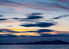 Ουρανός Cumbria Στοκ εικόνες με δικαίωμα ελεύθερης χρήσης