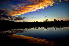 Ουρανός - Karasjok Στοκ φωτογραφίες με δικαίωμα ελεύθερης χρήσης