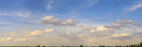 ουρανός pano Στοκ φωτογραφία με δικαίωμα ελεύθερης χρήσης