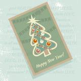 ουρανός santa του Klaus παγετού Χριστουγέννων καρτών τσαντών επίσης corel σύρετε το διάνυσμα απεικόνισης Στοκ εικόνα με δικαίωμα ελεύθερης χρήσης