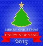 ουρανός santa του Klaus παγετού Χριστουγέννων καρτών τσαντών καλή χρονιά Στοκ Εικόνα
