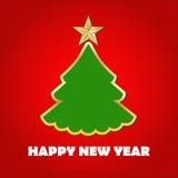 ουρανός santa του Klaus παγετού Χριστουγέννων καρτών τσαντών καλή χρονιά Στοκ Εικόνες