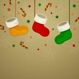 ουρανός santa του Klaus παγετού Χριστουγέννων καρτών τσαντών απεικόνιση αποθεμάτων
