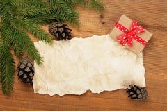 ουρανός santa του Klaus παγετού Χριστουγέννων καρτών τσαντών στοκ φωτογραφία με δικαίωμα ελεύθερης χρήσης