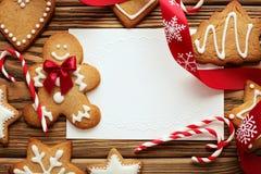 ουρανός santa του Klaus παγετού Χριστουγέννων καρτών τσαντών Στοκ εικόνα με δικαίωμα ελεύθερης χρήσης