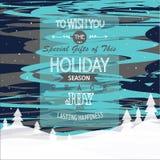 ουρανός santa του Klaus παγετού Χριστουγέννων καρτών τσαντών στοκ φωτογραφία
