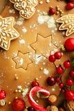 ουρανός santa του Klaus παγετού Χριστουγέννων καρτών τσαντών Στοκ Εικόνες