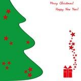 ουρανός santa του Klaus παγετού Χριστουγέννων καρτών τσαντών διανυσματική απεικόνιση