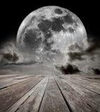 Ουρανός Supermoon. Στοκ φωτογραφία με δικαίωμα ελεύθερης χρήσης