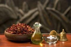 Ουσιαστικά aromatherapy πετρέλαια Στοκ φωτογραφία με δικαίωμα ελεύθερης χρήσης