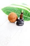 Ουσιαστικό πετρέλαιο καρύδων στοκ φωτογραφία με δικαίωμα ελεύθερης χρήσης