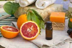 Ουσιαστικό πετρέλαιο πορτοκαλιών αίματος Στοκ εικόνες με δικαίωμα ελεύθερης χρήσης