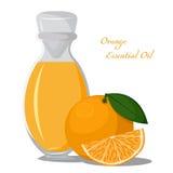 Ουσιαστικό πετρέλαιο του πορτοκαλιού Στοκ εικόνες με δικαίωμα ελεύθερης χρήσης