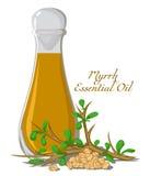 Ουσιαστικό πετρέλαιο myrrh Στοκ εικόνες με δικαίωμα ελεύθερης χρήσης