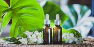 Ουσιαστικό jasmine πετρέλαιο Bioproduct, οργανικά καλλυντικά Αρωματοποιία, Στοκ φωτογραφίες με δικαίωμα ελεύθερης χρήσης