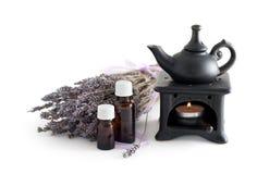 ουσιαστικό lavender πετρέλαιο Στοκ Εικόνα