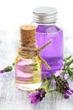 ουσιαστικό lavender πετρέλαιο Στοκ Φωτογραφίες