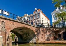 Ουτρέχτη Παλαιό κανάλι πόλεων Στοκ Εικόνα