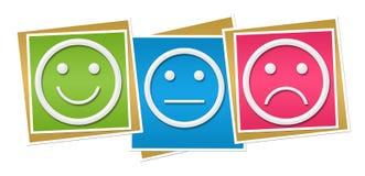 Ουδέτερα λυπημένα ζωηρόχρωμα τετράγωνα χαμόγελου Στοκ εικόνες με δικαίωμα ελεύθερης χρήσης