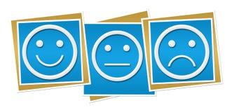 Ουδέτεροι λυπημένοι μπλε φραγμοί χαμόγελου Στοκ Φωτογραφίες