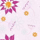 λουλούδια άνευ ραφής Στοκ Εικόνες