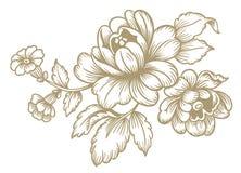 λουλούδια αναδρομικά Στοκ φωτογραφία με δικαίωμα ελεύθερης χρήσης