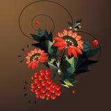 λουλούδια γεωμετρικά triangulation αφηρημένα λουλούδια Στοκ Εικόνες