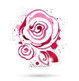 λουλούδια ι συντακτών watercolor εικόνων ζωγραφικής Στοκ φωτογραφίες με δικαίωμα ελεύθερης χρήσης