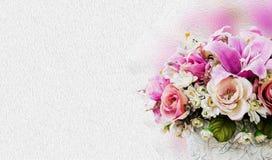 λουλούδια καρτών ανασκόπησης που χαιρετούν τον καθολικό εκλεκτής ποιότητας Ιστό προτύπων σελίδων Στοκ φωτογραφία με δικαίωμα ελεύθερης χρήσης