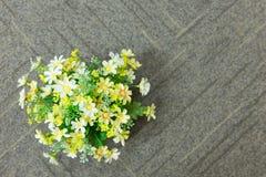 λουλούδια στον καφετή σάκο Στοκ Φωτογραφίες