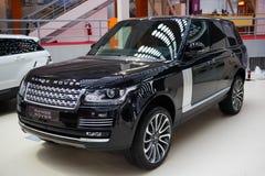 12$ου το 2011 6ο καναρινιών αυτοκινήτων Λονδίνο motorexpo Δευτέρας Ιουνίου μια Κυριακή Range Rover στην αποβάθρα Στοκ φωτογραφίες με δικαίωμα ελεύθερης χρήσης