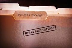 Οφέλη υπαλλήλων HIPAA Στοκ Φωτογραφία