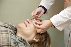 οφθαλμική ένταση οφθαλμ&omic Στοκ φωτογραφία με δικαίωμα ελεύθερης χρήσης