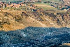 λοφώδης επαρχία το χειμώνα στοκ φωτογραφία με δικαίωμα ελεύθερης χρήσης