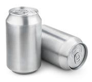 δοχεία μπύρας αργιλίου 330 μιλ. Στοκ Εικόνες