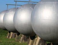 δοχεία πίεσης για την αποθήκευση του εύφλεκτου φυσικού αερίου Στοκ Εικόνες