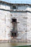 ΟΧΥΡΟ ΠΟΛΗ ΤΟΥ ΝΤΕΛΑΓΟΥΈΡ, ΝΤΕΛΑΓΟΥΈΡ, DE - 1 ΑΥΓΟΎΣΤΟΥ: Κρατικό πάρκο του Ντελαγουέρ οχυρών, ιστορικό φρούριο εμφύλιου πολέμου έ στοκ εικόνα
