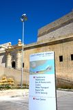 Οχυρό Άγιος Angelo και σημάδι, Vittoriosa Στοκ φωτογραφίες με δικαίωμα ελεύθερης χρήσης