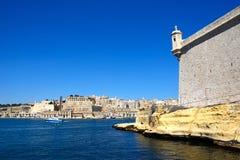 Οχυρό Άγιος Angelo και Valletta Στοκ Εικόνες
