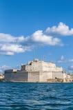 Οχυρό Άγιος Angelo σε Vittoriosa (Birgu), Μάλτα, όπως βλέπει από Στοκ φωτογραφία με δικαίωμα ελεύθερης χρήσης