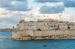 Οχυρό Άγιος Angelo σε Vittoriosa & x28 Birgu& x29 , Μάλτα, όπως βλέπει από Στοκ Εικόνες