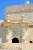 Οχυρό Άγιος Angelo, Vittoriosa Στοκ Φωτογραφίες