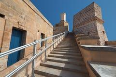 οχυρό Μάλτα Άγιος του Angelo Σκαλοπάτια στο Ferramolino ` s αλαζόνας Στοκ Εικόνες