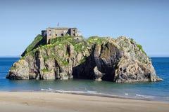 Οχυρό νησιών του ST Catherine, Ουαλία στοκ φωτογραφίες