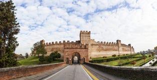 Οχυρό της περιτοιχισμένης πόλης Cittadella Στοκ Εικόνες