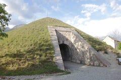 Οχυρό του mont-δελφίνου, περιοδικό σκονών, Hautes Alpes, Γαλλία στοκ εικόνα