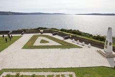 Οχυρό του San Antonio σε Ancud, νησί Chiloe, Χιλή στοκ φωτογραφία