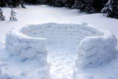 Οχυρό χιονιού στοκ φωτογραφίες με δικαίωμα ελεύθερης χρήσης