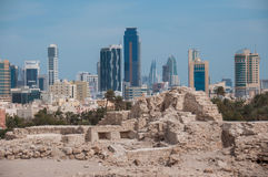 Οχυρό Al Μπαχρέιν Qal'At, νησί του Μπαχρέιν Στοκ εικόνες με δικαίωμα ελεύθερης χρήσης