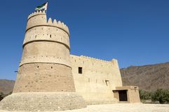 Οχυρό Bithnah στο Φούτζερα Ηνωμένα Αραβικά Εμιράτα στοκ εικόνα